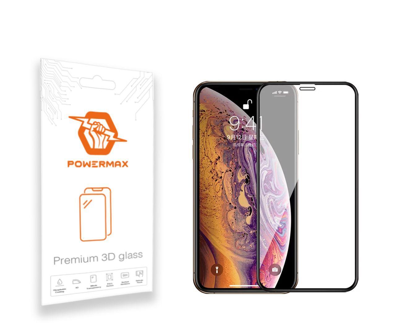 Защитное стекло Powermax 3D Premium Apple iPhone X, iPhone XS, iPhone 11 Pro Black (PWRMX3DIPHXB)