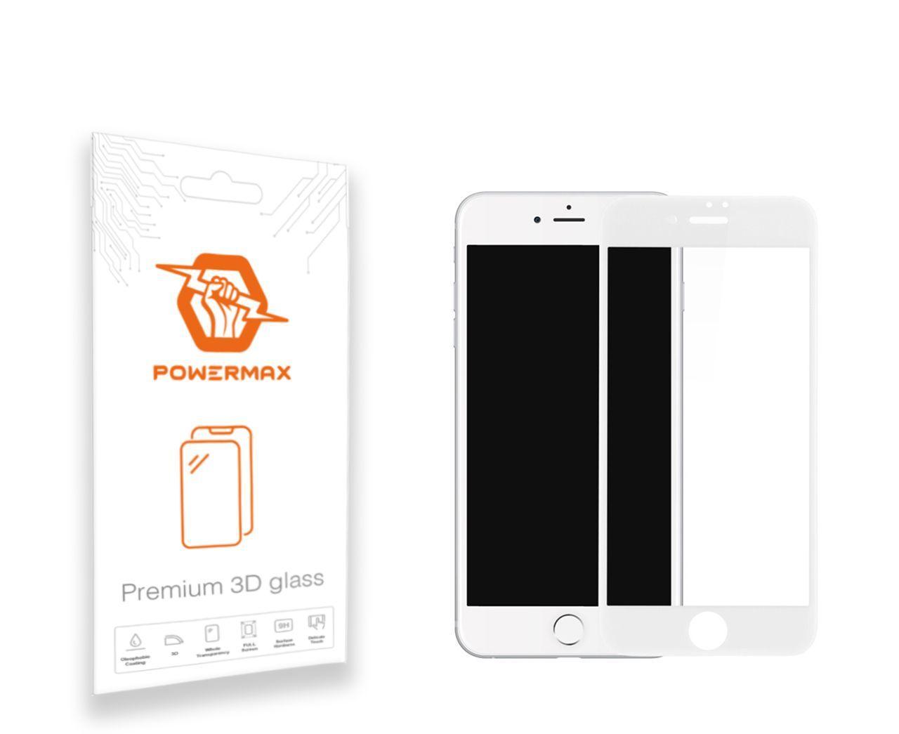 Защитное стекло Powermax 3D Premium Apple iPhone 7, iPhone 8 White (PWRMX3DIPH7W)