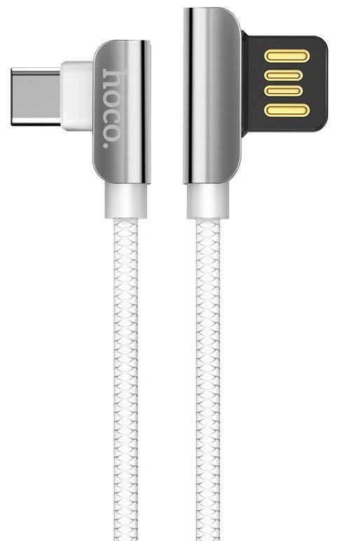 Кабель USB Hoco U42 Exquisite Steel Type-C Cable 1.2m White