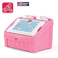 """Комод для игрушек и детская доска для рисования """"BOX & ART"""", цвет розовый"""