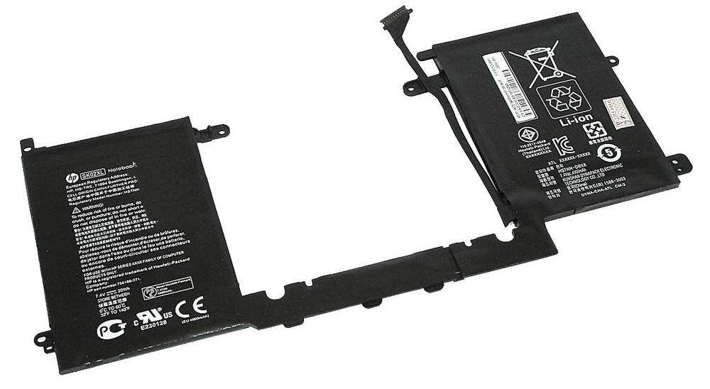 Аккумулятор для ноутбука HP SK02XL SPLIT 13-R 7.4 V Black 4000mAh Оригінал