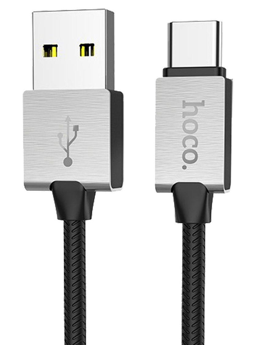 Кабель USB Hoco U49 Refined Steel Type-C Black