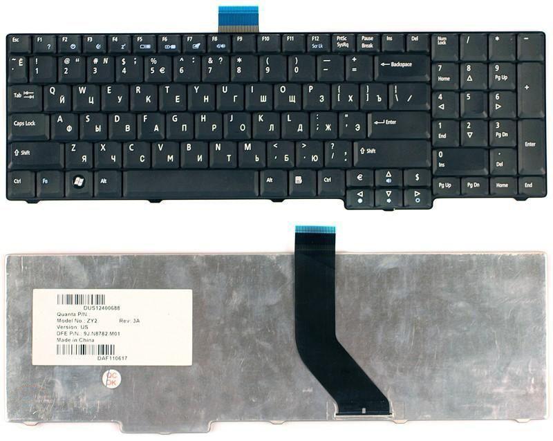 Клавиатура для ноутбука Acer Aspire 8920 8930 8920G 8930G 6930 6930G 7730z  черная