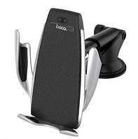 Автодержатель  Hoco CA34 Elegant Automatic Induction Wireless Charging Silver