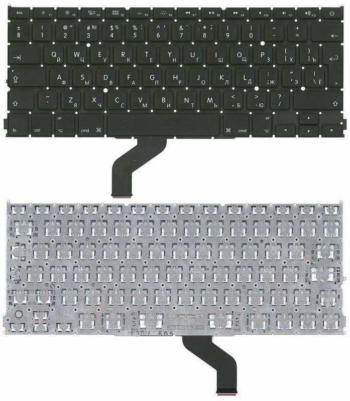 Клавиатура для ноутбука Apple MacBook Pro A1425 с подсветкой Light без рамки вертикальный энтер черная