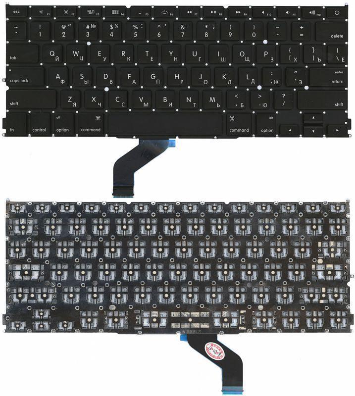 Клавиатура для ноутбука Apple MacBook Pro A1425 с подсветкой Light без рамки горизонтальный энтер черная