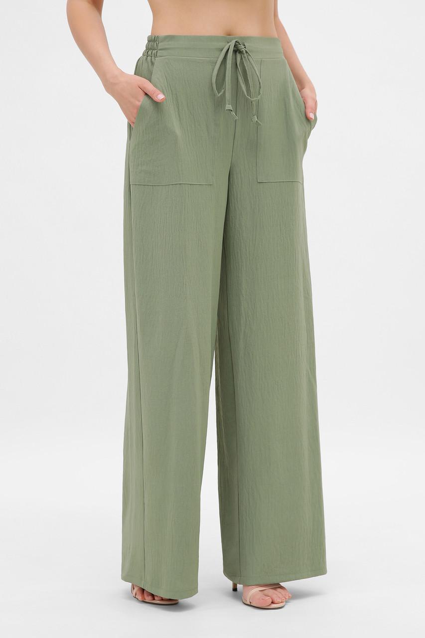Шикарные летние легкие брюки палаццо широкие хлопковые размер 42-50
