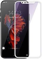 Защитное стекло Baseus 3D Arc Tempered Glass Apple iPhone X White (SGAPIPHX-A3D02)