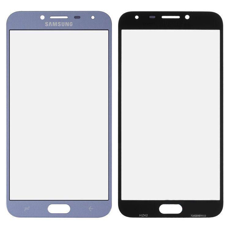 Корпусное стекло дисплея Samsung Galaxy J4 J400F 2018 (с OCA пленкой) Blue