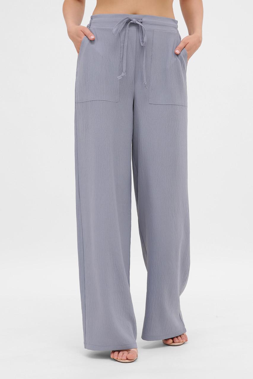Шикарные легкие широкие летние брюки палаццо широкие размер 42-50