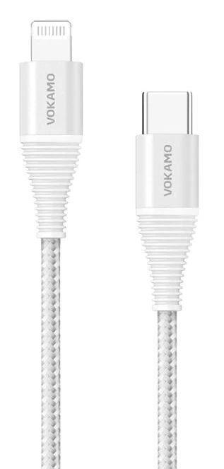 Кабель USB Vokamo Luxlink Series Type-C to Lightning 1.2 m Silver (VKM20052)