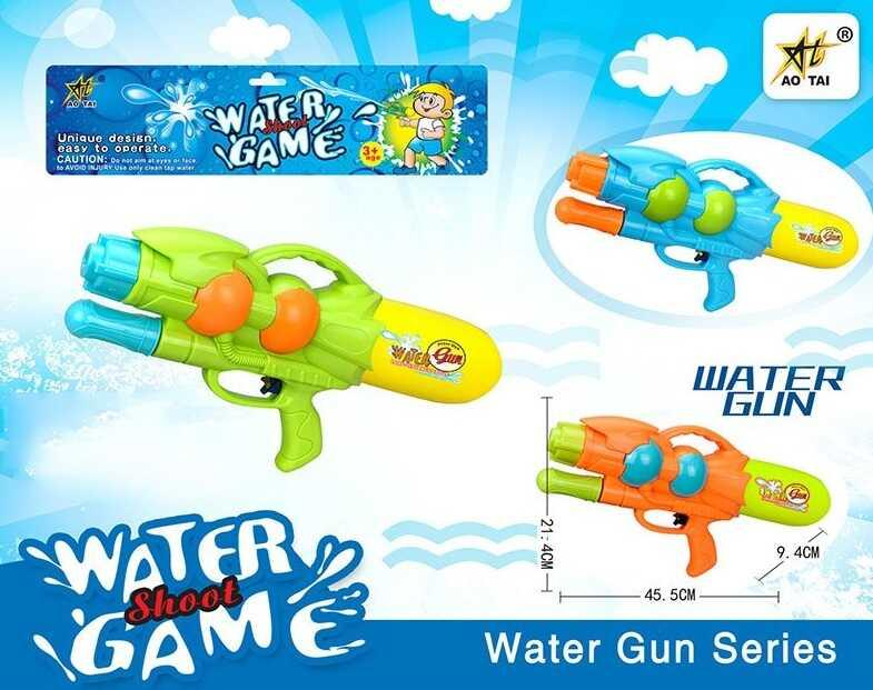 Водный пистолет с накачкой М 818 Q (48/2) 3 цвета, в кульке