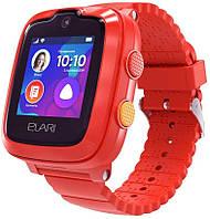 Детские умные часы (с GPS) ELARI KidPhone 4G с GPS-трекером и видеозвонками Red (KP-4GR)
