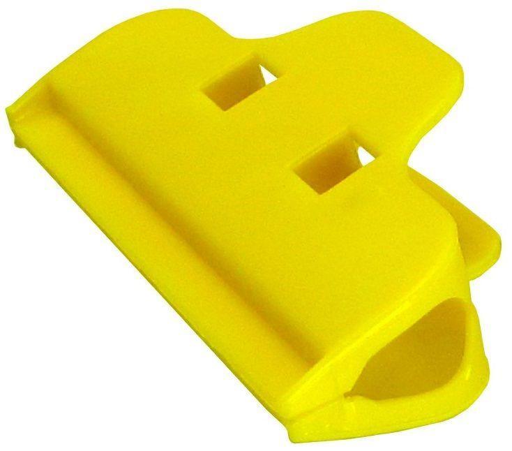 Зажим-прищепка широкая (100 мм) для фиксации дисплейного комплекта в корпусе при установке и требующего