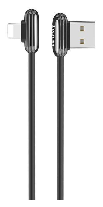 Кабель USB Hoco U60 Soul Secret Lightning Metal Grey