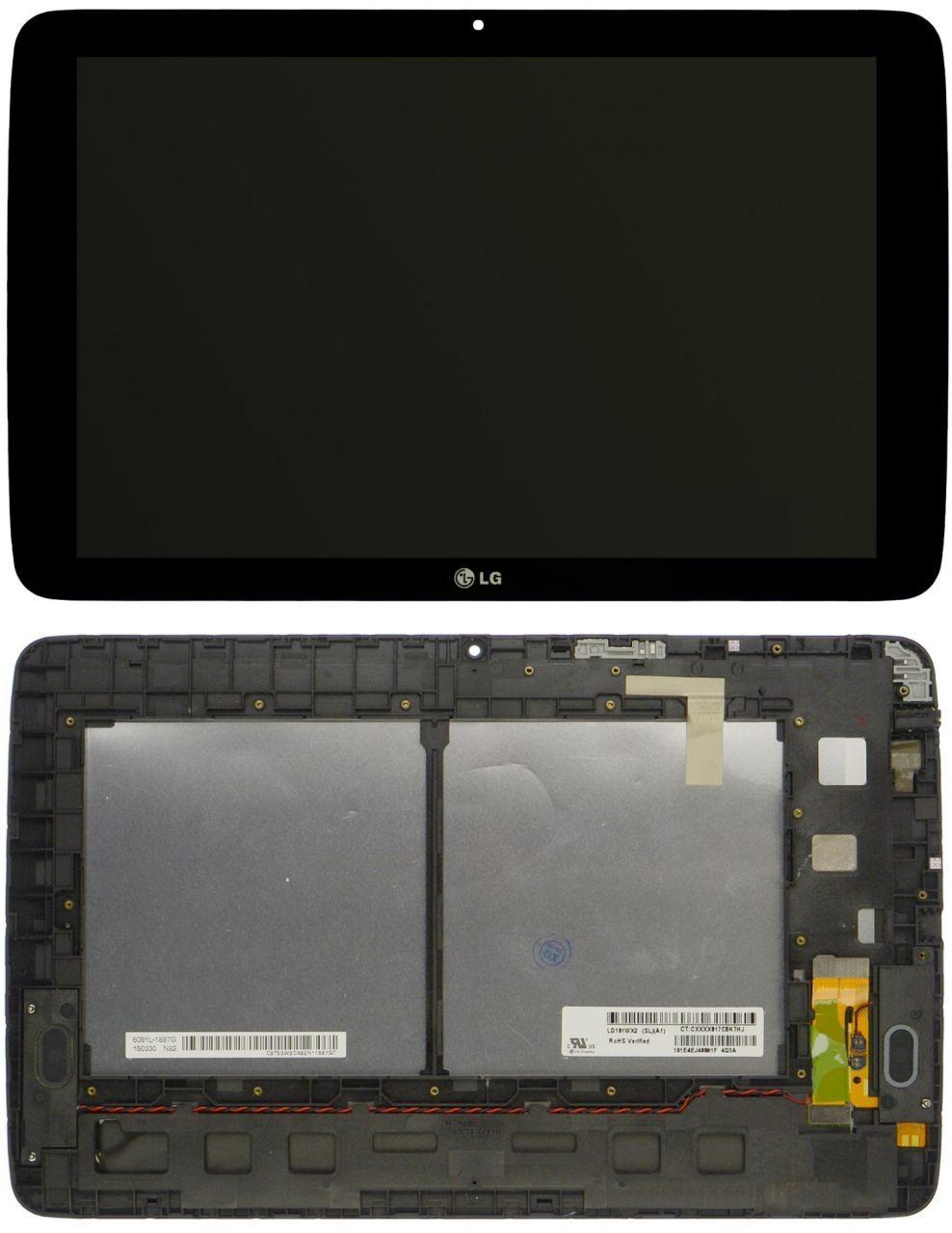 Дисплей для планшета LG G Pad 10.1 V700 + Touchscreen with frame (original) Black
