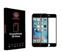 Защитное стекло Powermax 3D CrystalShield Apple iPhone 6, iPhone 6S Black (PWRMXCRIPH6B)