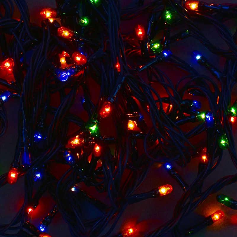 Гирлянда светодиодная С 31322 (100) 100 лампочек, 4.5 метра, мультиколор