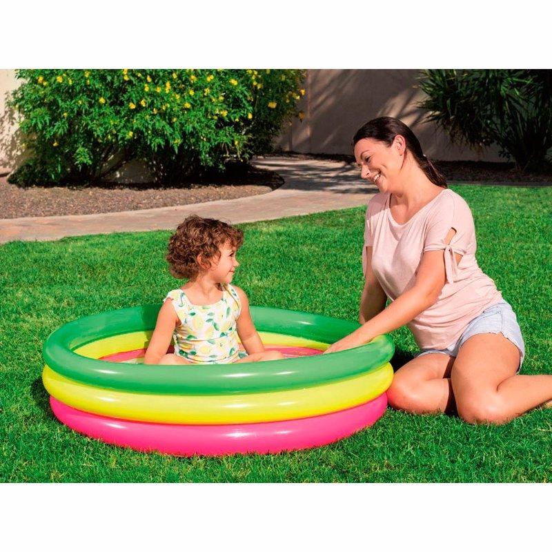 Бассейн детский надувной BestWay (51104), диаметр 102 см, высота 25 см