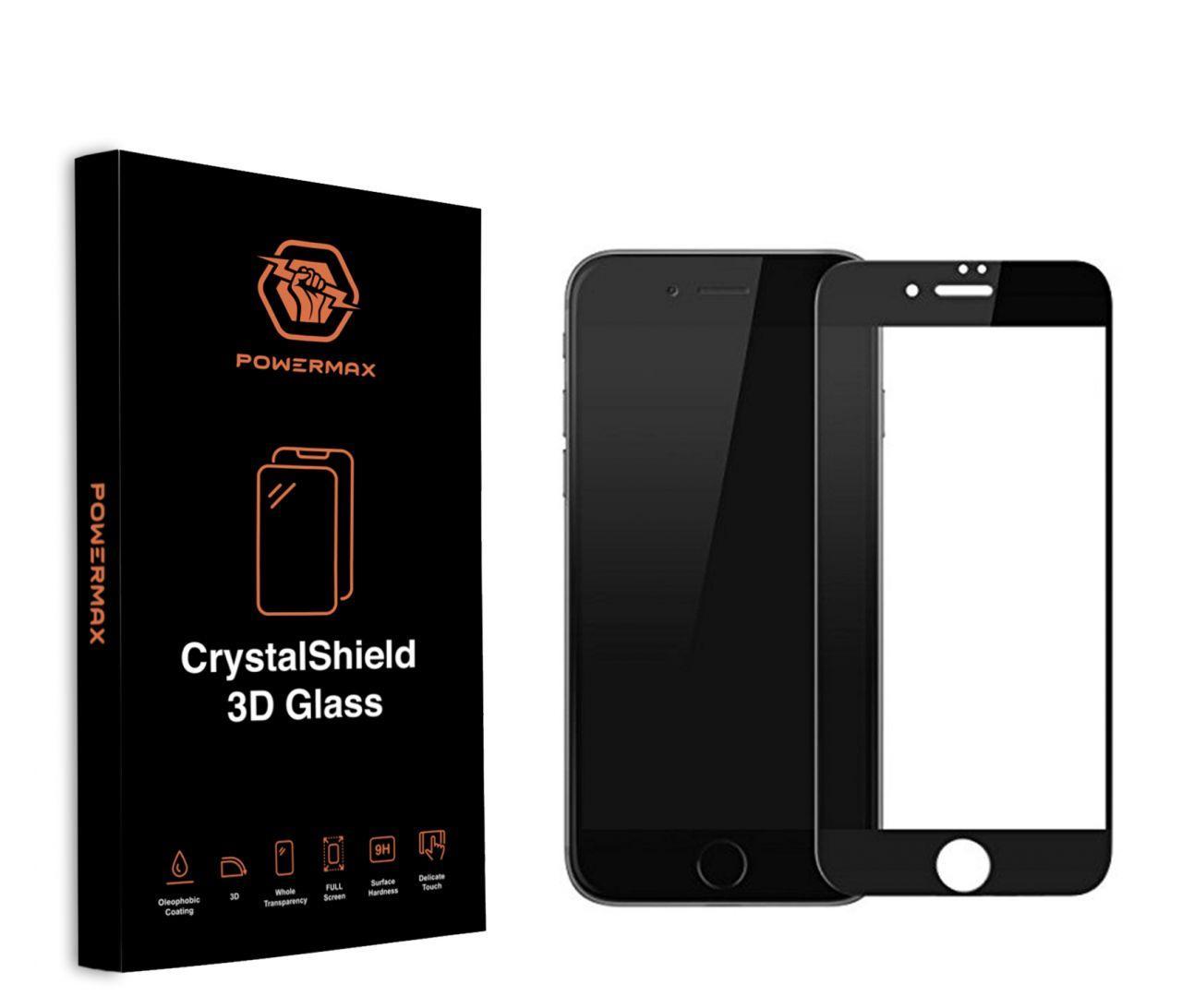 Защитное стекло Powermax 3D CrystalShield Apple iPhone 7 Plus, iPhone 8 Plus Black (PWRMXCRIPH7PB)
