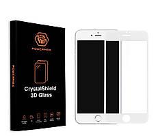 Защитное стекло Powermax 3D CrystalShield Apple iPhone 7, iPhone 8 White (PWRMXCRIPH7W)