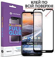 Защитное стекло MakeFuture Full Cover Full Glue Nokia 3.2 Black (MGF-N32)