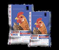Комбикорм Best Mix для продуктивной несушки и перепела 25кг