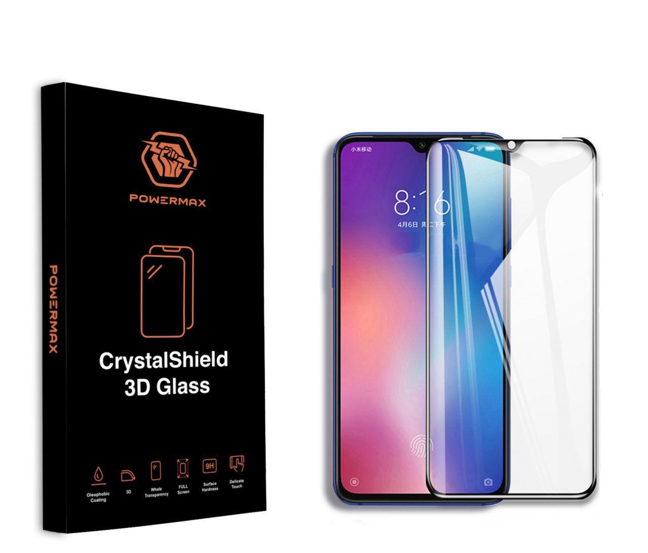 Защитное стекло Powermax 3D CrystalShield Xiaomi Mi 9 Black (PWRMXCRXM9B)