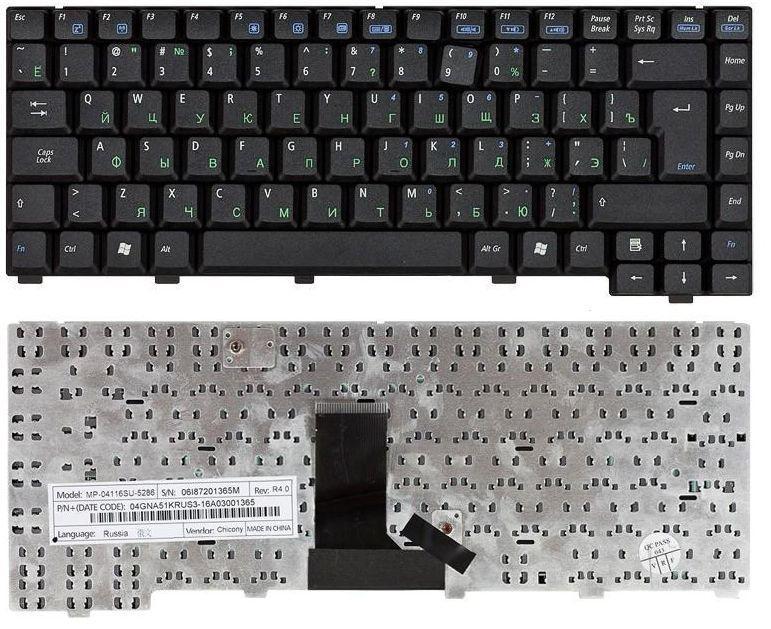 Клавіатура для ноутбука Asus EEE PC A6R A6 A6M A6Rp A6T A6TC вертикальний ентер чорна