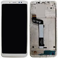 Дисплей Xiaomi Redmi Note 5, Note 5 Pro с тачскрином и рамкой, White