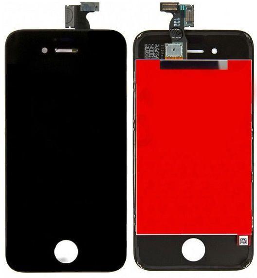 Дисплей Apple iPhone 4S з тачскріном і рамкою, копія, чорний