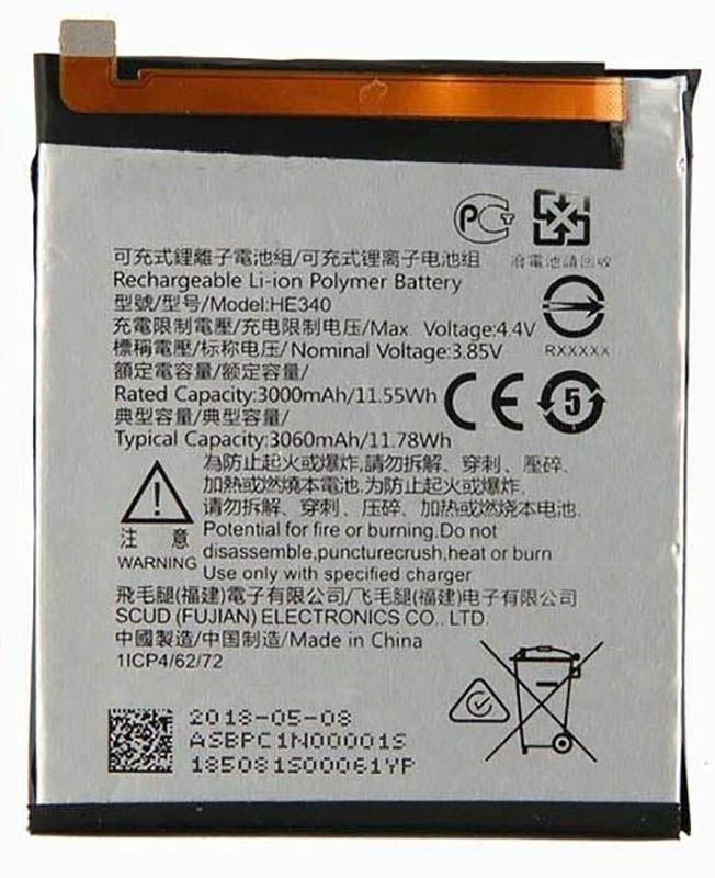 Аккумулятор Nokia 7 / HE340 (3060 mAh) 12 мес. гарантии