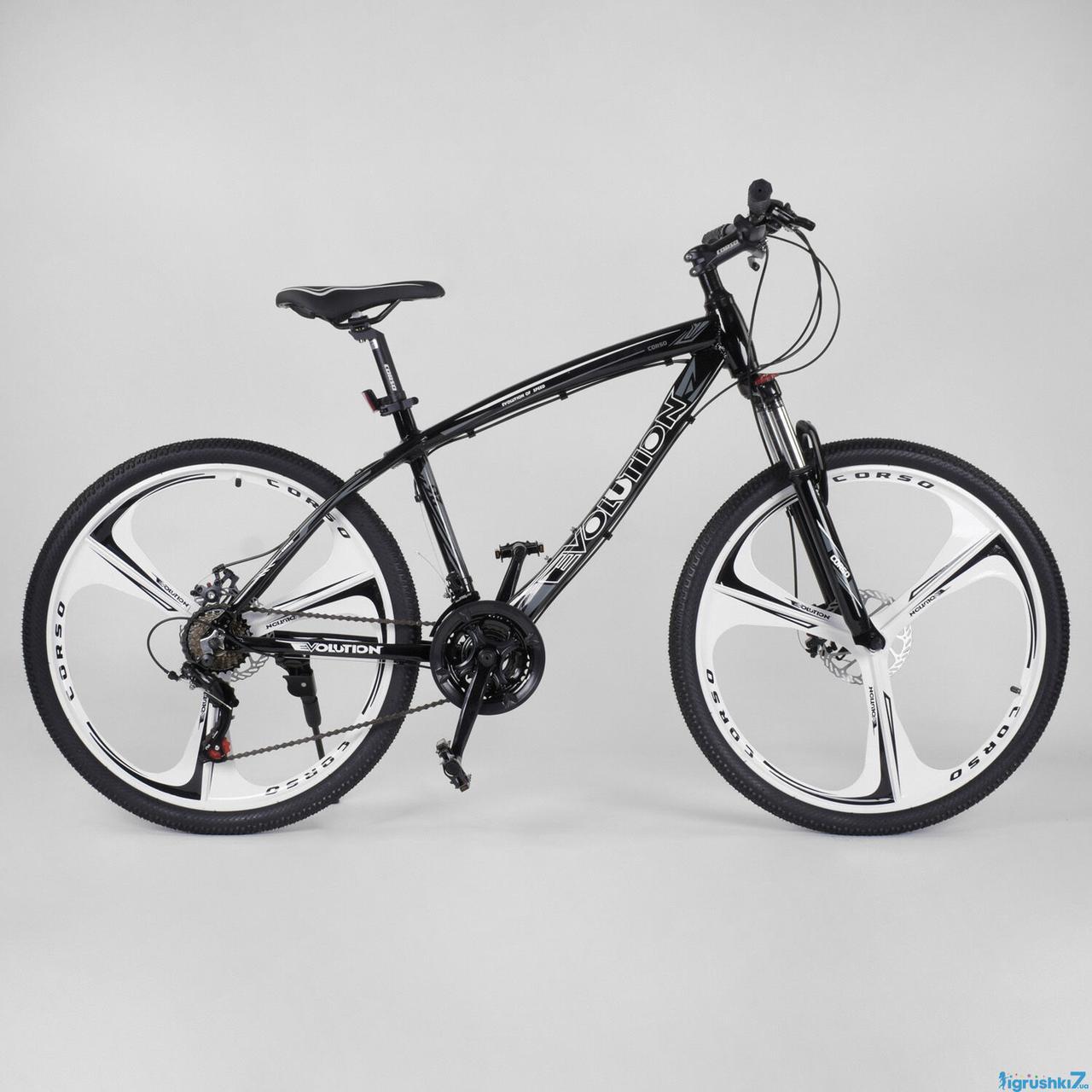 Алюминиевый велосипед 26 дюймов 17 дисковые колёсарама EVOLUTION CORSO Shimano