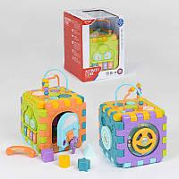 Куб Логический НЕ 0527 (12)  звуковые и световые эффекты, в коробке