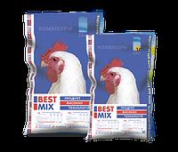 Комбикорм Best Mix откорм для бройлеров 25кг