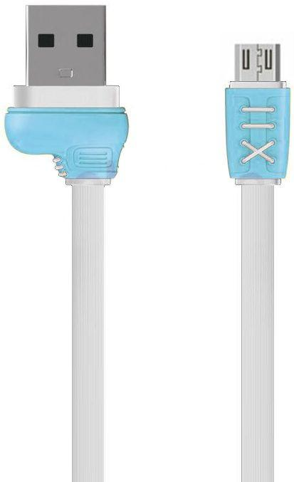 Кабель USB Remax Running Shoe Micro USB Cable White/Blue (RC-112M)