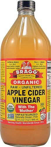 Bragg Organic Raw Apple Cider Vinegar яблочный уксус натуральный органический с мякотью 946 мл