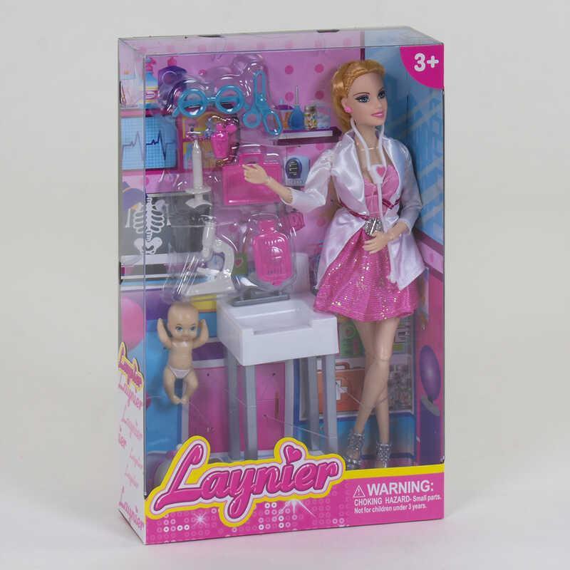 "Кукла ""Детский Врач"" BN 818 B (64/2) с аксессуарами, в коробке"