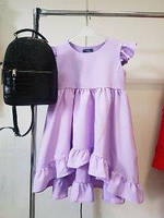 Нарядное детское платье фиалкового цвета
