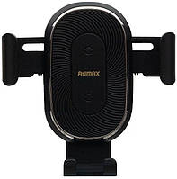Автодержатель с беспроводной зарядкой Remax RM-C38 + Wireless Charger Black, фото 1