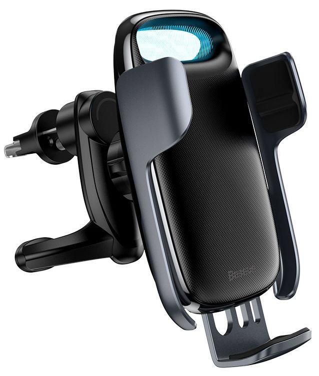 Автодержатель с беспроводной зарядкой Baseus Milky Way Electric Bracket (15W) Black