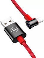 Кабель USB Usams U13 Right-Angle Smart Power Lightning Cable 2A 1.2m Red