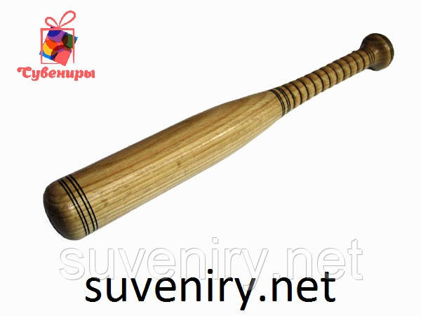 Бита бейсбольная деревянная 60 см