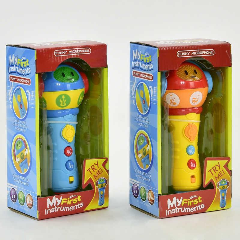 Микрофон музыкальный ZD 658-58 (72/2) подсветка, 2 цвета, в коробке