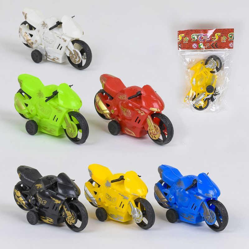 Мотоцикл 399-130 (1800/2) 6 цветов, инерция, 1шт в кульке