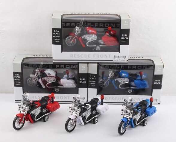 Мотоцикл металлопластик 666 (96/2) 3 цвета, свет, звук, в коробке