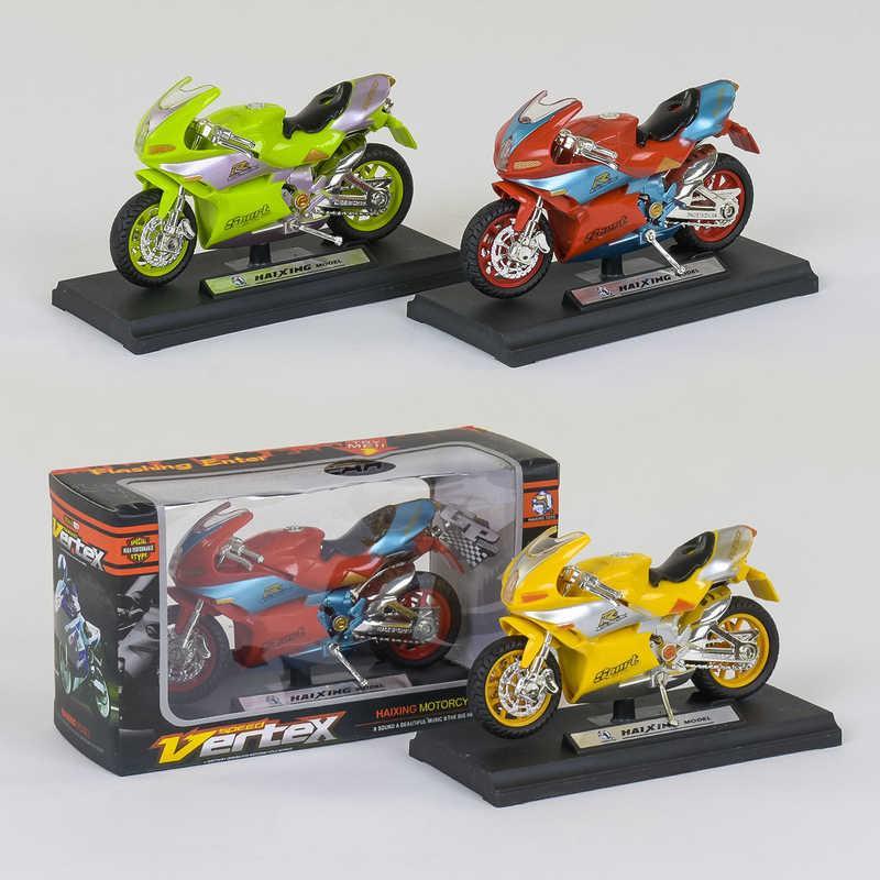 Мотоцикл металлопластик HX 778 (240/5) 3 вида, звуковые эффекты, в коробке