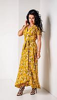 Штапельное платье для лета размеры от 44 до 52