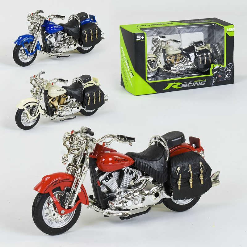 Мотоцикл металлопластик НХ 796 (144/2) 3 цвета, 1шт в коробке