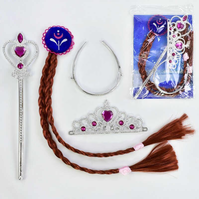 Карнавальный набор для девочки C 31264 (300) 3 предмета: коса, жезл, корона